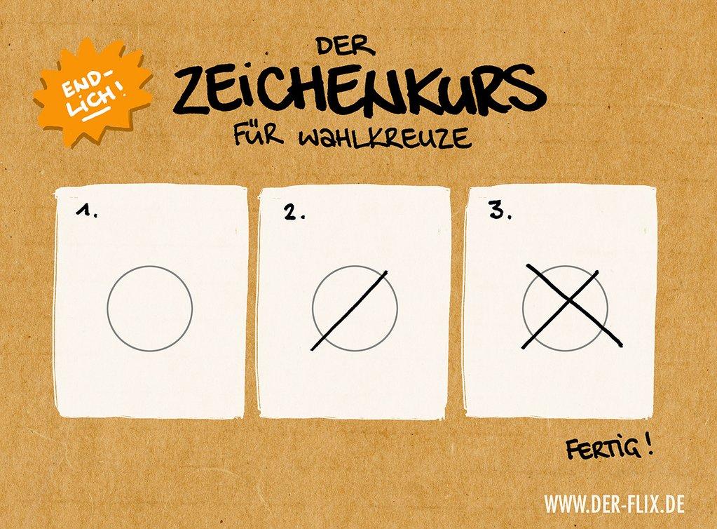 Zeichenkurs für Wahlkreuze von Der Flix